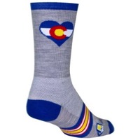 SockGuy CO Luv Crew Socks - Grey