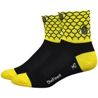 "DeFeet Aireator 3"" Bee Aware Bike Socks - Yellow/Black"