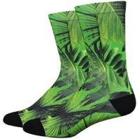 "DeFeet Levitator Lite 6"" Socks - Jungle Green/Black"