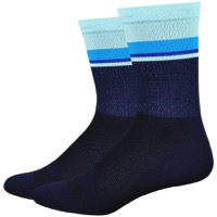 "DeFeet Levitator Lite 6"" Socks - Navy/Light Blue"