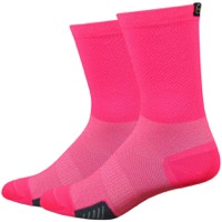 "DeFeet Cyclismo 5"" Socks - Flamingo Pink"
