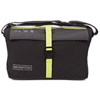 Brompton Roll Top Bag - Grey/Black/Lime Green