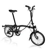 Brompton H6R Black Edition Complete Bike - Black Lacquer