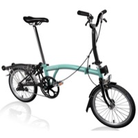 Brompton H6R Black Edition Complete Bike - Turkish Green