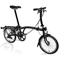 Brompton S6R Black Edition Complete Bike - Black