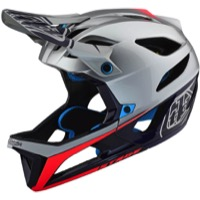 Troy Lee Designs Stage MIPS Helmet - Race Silver/Navy