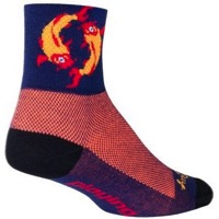 SockGuy Koi Socks - Navy/Orange