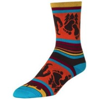 SockGuy Big Footin' Crew Socks - Orange/Black/Blue