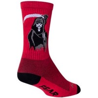 SockGuy Reaper Crew Socks - Red/Black