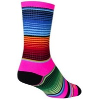SockGuy Siesta Crew Socks - Pink/Blue/Orange
