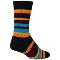 SockGuy SGX Twilight Socks - Black/Orange/Blue