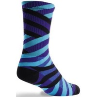 SockGuy Matrix Crew Socks - Purple/Blue/Black