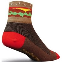 SockGuy Hamburger time Socks - Brown