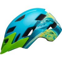 Bell Sidetrack Child Helmet 2019 - Gnarly Matte Bright Blue/Bright Green