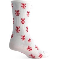 SockGuy SGX Rock Lobster Socks - White/Red