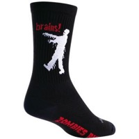 SockGuy Zombie Crew Socks - Black/White/Red