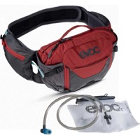 EVOC Hip Pack Pro + 1.5L Hydration Hip Pack - Carbon Grey/Chili Red