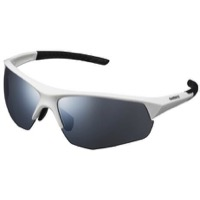 Shimano Twinspark Sunglasses 2019 - White/Smoke Silver Mirror