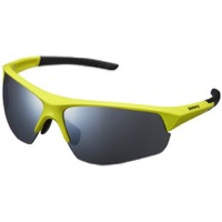 Shimano Twinspark Sunglasses 2019 - Lime Yellow/Smoke Silver Mirror