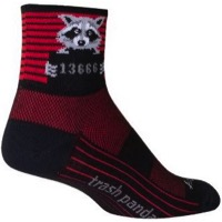 SockGuy Busted Crew Socks - Black/Red