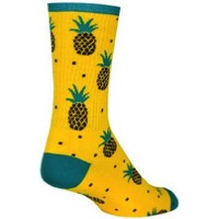 SockGuy Pineapple Crew Socks - Yellow/Green