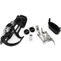 Lezyne Flow Storage Water Bottle Cage Loaded Kit