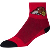 SockGuy Turbodillo Socks - Red/Black