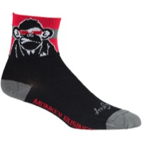 SockGuy Biz Socks - Black/Red