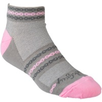 SockGuy Pink Chain Socks - Gray/Pink