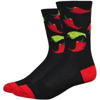 "DeFeet Aireator 6"" Scoville Socks - Black/Red"