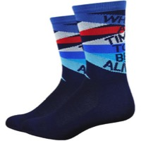 "DeFeet Aireator 6"" What A Time to Be Alive Socks - Blue"
