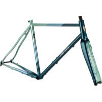 All-City Cosmic Stallion Frameset - Blue/Green Stripes