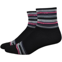 "DeFeet Aireator 3"" Spectrum Womens Socks - Black/Pink"