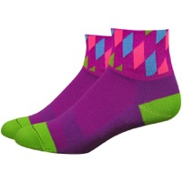"DeFeet Aireator 2"" Diamonte Womens Socks - Raspberry/Lime"