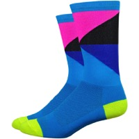 "DeFeet Aireator 6"" Gamut Socks - Blue/Hi-Vis Yellow"