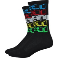 "DeFeet Aireator 6"" Positive Space Socks - Black/Multi-Color"