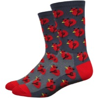 "DeFeet Aireator 6"" Devil Duck Socks - Graphite/Red"