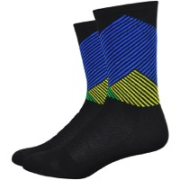 "DeFeet Aireator 6"" Color Mountain Socks - Black/Green/Blue/Yellow"