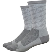 "DeFeet Aireator 6"" Pandora Socks - Gray/White"