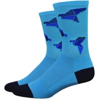 "DeFeet Aireator 6"" Orizuru Socks - Carolina Blue"