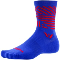 Swiftwick Vision Five Socks - Blue/Red