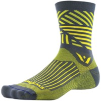 Swiftwick Vision Five Socks - Edge Gray/Yellow
