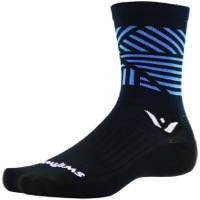 Swiftwick Vision Five Socks - Edge Black/Blue