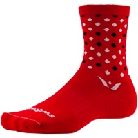 Swiftwick Vision Five Socks - Razzle Red/White