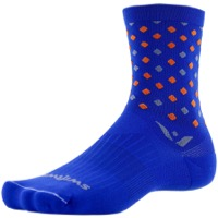 Swiftwick Vision Five Socks - Razzle Blue/Gray
