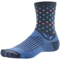 Swiftwick Vision Five Socks - Razzle Gray/Lt Blue