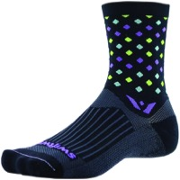 Swiftwick Vision Five Socks - Razzle Black/Purple