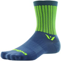 Swiftwick Vision Five Socks - Aero Gray/Hi-Vis Yellow