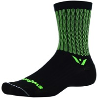 Swiftwick Vision Five Socks - Aero Black/Green