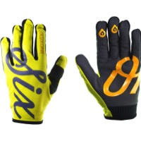 SixSixOne Comp Gloves - Yellow Script